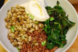 greens beans quinoa and turnips 2
